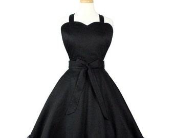 Black Sweetheart Hostess Vintage Inspired Retro Apron