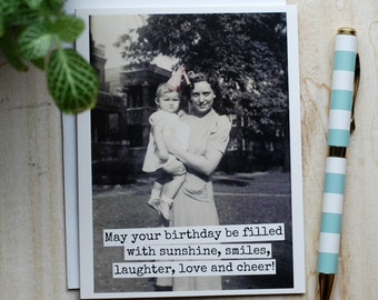 Card #367 - May Your Birthday Be Filled With Sunshine, Smiles, Laughter, Love And Cheer - Blank Inside Greeting