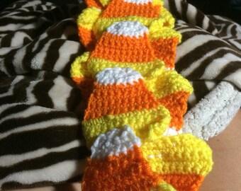Candy corn scarf