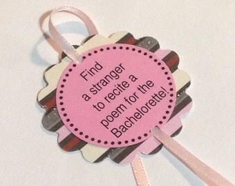 Bachelorette Party Game Bracelets - Glitter Print Decorations - set of 12 - customizable for Birthdays