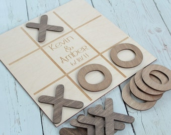 Noughts and Crosses Wedding Game Custom Wedding Game Rustic Wedding Game Table #DownInTheBoondocks