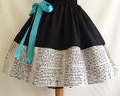 Alice In Wonderland Literature Skirt, Book Skirt, By Rooby Lane