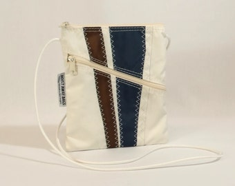 Crossbody Bag, Shoulder Bag, Small Shoulder Bag, Nautical Bag, Bridesmaid Bag, Sail Bag, White Bag, Navy Bag, Brown Bag (OTS14)