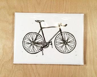 Blank Bicycle Greeting Card Black