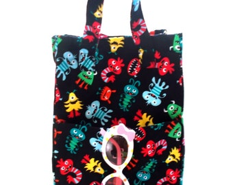 Lunch Bag PDF Pattern, Kids Lunch Bag Pattern, Simple Lunch Bag Pattern, Non-Insulated Lunch Bag