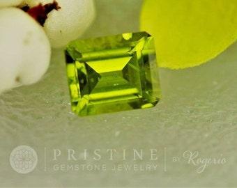 Peridot Emerald Cut Shape 12 x 10 MM August Birthstone for Pendant