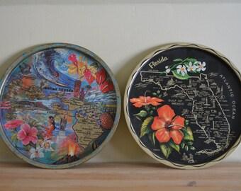 Hawaii or Florida Souvenir Tray