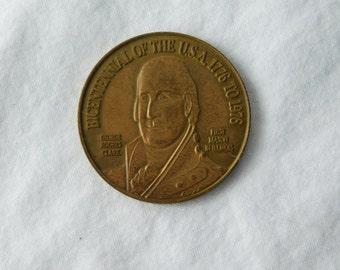 1976 Vintage Masonic Token Bicentennial Coin Grand Lodge of Illinois