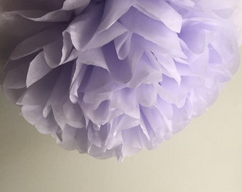1 Mist Tissue Paper Pom Pom, Paper Pom Poms, Wedding Poms, Nursery Decor, Birthday Party, 1st birthday party, Home Decor, Purple Theme Party
