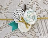 Baby Girl Rosette Headband - Flower Headband