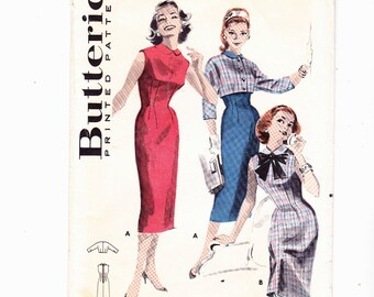 "Buttereick 8213 Misses Dress and Jacket Vintage Sewing pattern Size 14, Bust 34"" Waist 26"""