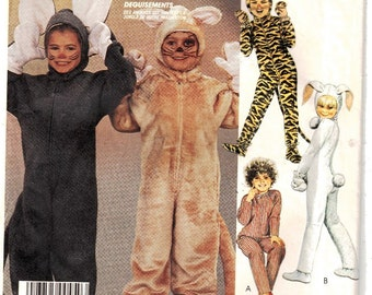 McCalls 2624 Childs Costumes Bunny Mouse Tiger Cat Sz 10 Uncut Pattern