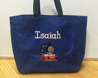 Personalized Thomas Train Tote Bag Baby Diaper Bag Toy Bag