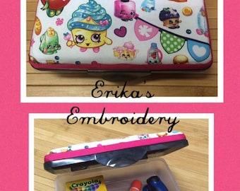 Personalized Shopkins Kids School Pencil Box Case