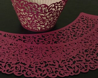 Fuschia cupcake liners / wrappers Party Baby or Bridal Shower