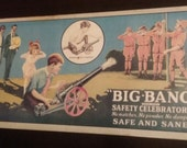 vintage tin sign featuring toy cannon