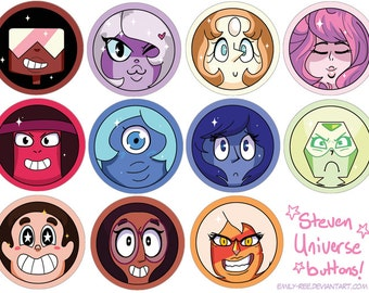 Steven Universe Inspired Buttons