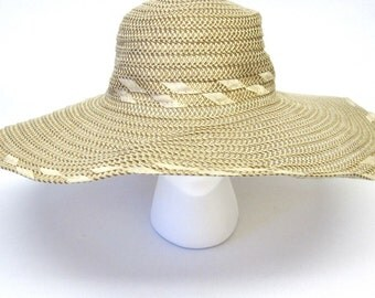 Tan Wide Brimmed Hat Wedding Accessory