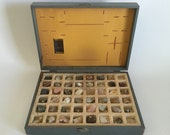 Vintage Rock Mineralogy Collection No. 810 in Original Case, Science, Porter Chemical Company