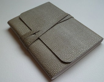 Leather Sketchbook Leather Journal Travel Journal. Stingray Effect Embossed onto the Leather.