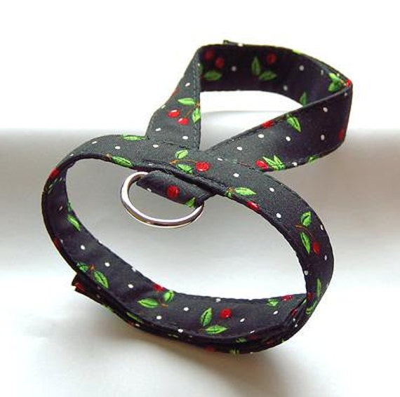 Small dog harness, velcro close Cherry 1