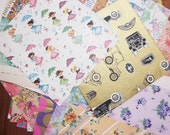 Destash Vintage Wrapping Paper - Large Lot Assorted  Gift Wrap for crafting - Over 1 pound 5 ounces - 1 lb 5 oz