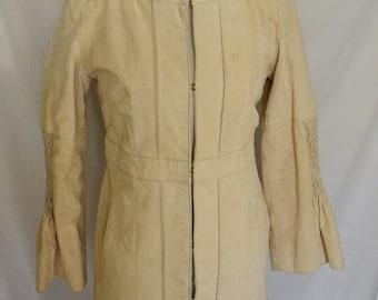 Bell Sleeved Suede Jacket