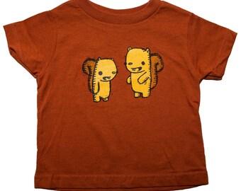 squirrel friends toddler shirt, squirrel t-shirt, cute kid's t-shirt, kid's gift, cute squirrel shirt,