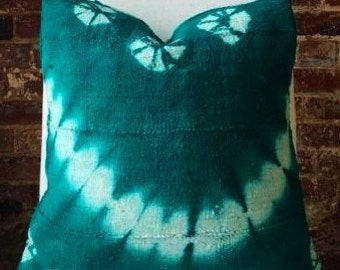 Tie Dye - Green - Pillow Cover - Mud Cloth