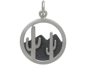 Cactus and Mountain Charm - Cactus Charm - Mountain Charm