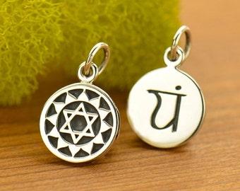 Silver Heart Chakra Charm - Chakra Jewelry