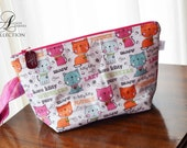 Kitty Cats Medium sized Knitting Project Bag Crocheting Bag Make-up Bag Toiletry Bag