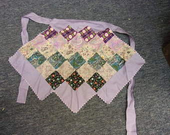 Vintage Purple Quilted Apron