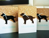 Reserved, Winter Thank You Notes Set of 8, Dog Thank You Cards, Labrador Cards