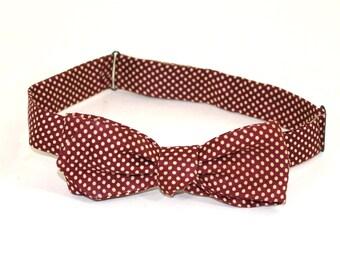 Polka Dot Vintage Silk Bow Tie by J Press Co
