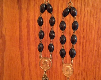 Rosary Assemblage Earrings