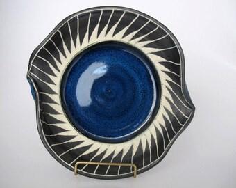 Serving Plate, Dish,  Handmade Platter, Stoneware Plate, Contemporary Design, Home Decor, Platter, Serving Plate, Bowl