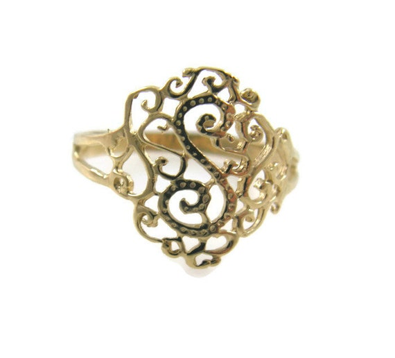 lace ring 14k yellow gold lace ring lace gold ring filigree