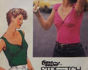 RUCHED KNIT TOP Pattern • Simplicity 9388 • Miss 12-16 • Pullover Top • Sleeveless Top • Sweetheart Neck • Vintage Pattern • WhiletheCatNaps
