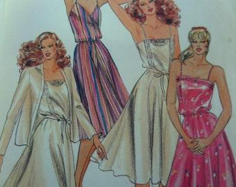 CAMISOLE DRESS Pattern • Butterick 3514 • Miss 16 • Fit & Flare Dress • Cami Bodice Dress and Jacket • Vintage Patterns • WhiletheCatNaps