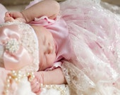 Newborn Infant Baby Girl Lace Hospital Hat Layette