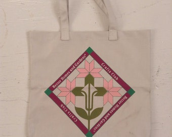 Vintage Better Homes and Gardens Crafts Club tote bag