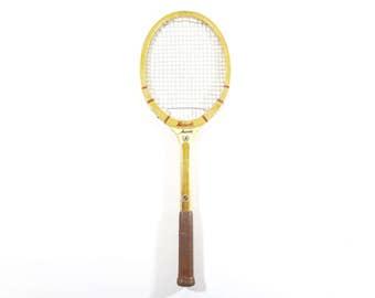Vintage Tennis Racquet / Wood Tennis Racquet / Vintage Sports decor