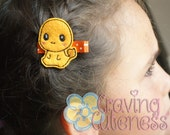 Pokemon Inspired Hair Clip, Badge Reel, Planner Accessory, or Book Mark - Meet Charmander