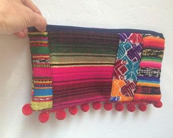 Tribal zipper pouch / clutch