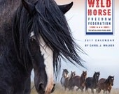 On Sale Now! Wild Horse Freedom Federation 2017 Wild Horse Calendar  - 2017- Carol Walker - Wall Calendar - Wild Horse - Sale