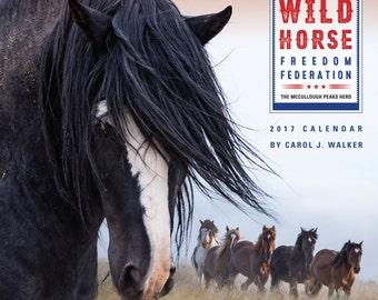 On Sale Now! Wild Horse Freedom Federation 2017 Wild Horse Calendar  - 2017- Carol Walker - Wall Calendar - Wild Horse - Sale