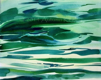 California Dreaming I - Original Plein-air Watercolor - Archivally Matted and Mounted