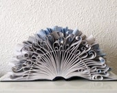 "Book Art Sculpture ""Blue wave"""