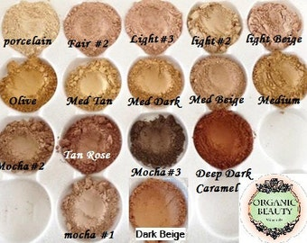 FOUNDATIONS Organic Beauty Minerals Vegan All Natural Vegan Green Tea Jojoba Vitamin E
